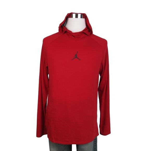5f8e0aa27662 NEW Jordan Size Medium Red Hoodie Sweatshirt